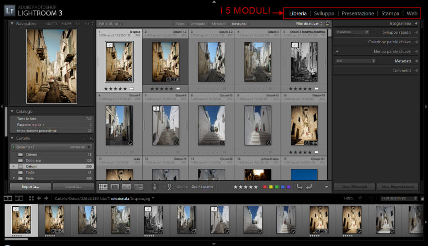 Lightroom: i moduli